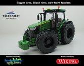 JOH-5160-B-BR-S-John-Deere-7310-Farmmodels-editie-Brede-banden-+-zwarte-velgen-+-nieuwe-spatborden-Handmatig-verbouwd-Manually-rebuilt-1:32-Wiking-2018