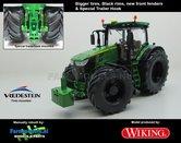 JOH-5164-B-BR-S-T-John-Deere-7310-Farmmodels-editie-Brede-banden-+-zwarte-velgen-+-nieuwe-spatborden-+-Speciale-Trekhaak-Handmatig-verbouwd-Manually-rebuilt-1:32-Wiking-2018