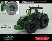 JOH-5170-B-BRGL-S-John-Deere-7310-Farmmodels-editie-Brede-banden-+-zwarte-velgen-met-Green-Line-+-nieuwe-spatborden-Handmatig-verbouwd-Manually-rebuilt-1:32-Wiking-2018