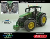 JOH-5066-B-T-SL-John-Deere-7310-Farmmodels-editie-Brede-banden-+-nieuwe-velgen-+-trekhaak-+-Stoflook-Wiking-2018-Handmatig-verbouwd-Manually-rebuilt-1:32