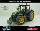 JOH-5064-B-SL-John-Deere-7310-Farmmodels-editie-Brede-banden-+-nieuwe-velgen--+-Stoflook-Wiking-2018-Handmatig-verbouwd-Manually-rebuilt-1:32