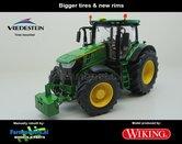JOH-5063-B-John-Deere-7310-Farmmodels-editie-Brede-banden-+-nieuwe-velgen-Wiking-2018-Handmatig-verbouwd-Manually-rebuilt-1:32