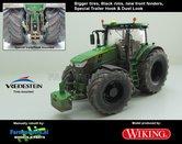 JOH-5166-B-BR-S-T-SL-John-Deere-7310-Farmmodels-editie-Brede-banden-+-zwarte-velgen-+-nieuwe-spatborden-+-Speciale-Trekhaak-+-Dust-Look-Handmatig-verbouwd-Manually-rebuilt-1:32-Wiking-2018