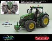 JOH-5083-B-S-T-SL-John-Deere-7310-Farmmodels-editie-Brede-banden-+-nieuwe-velgen-+-nieuwe-spatborden-voor-+-trekhaak-+-dust-look-Wiking-2018-Handmatig-verbouwd-Manually-rebuilt-1:32