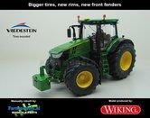 JOH-5080-B-S-John-Deere-7310-Farmmodels-editie-Brede-banden-+-nieuwe-velgen-+-nieuwe-spatborden-voor-Wiking-2018-Handmatig-verbouwd-Manually-rebuilt-1:32