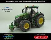 JOH-5081-B-S-SL-John-Deere-7310-Farmmodels-editie-Brede-banden-+-nieuwe-velgen-+-nieuwe-spatborden-voor-+-dust-look-Wiking-2018-Handmatig-verbouwd-Manually-rebuilt-1:32