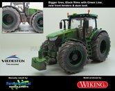 JOH-5174-B-BRGL-S-SL-John-Deere-7310-Farmmodels-editie-Brede-banden-+-zwarte-velgen-met-Green-Line-+-nieuwe-spatborden-+-Stoflook-Handmatig-verbouwd-Manually-rebuilt-1:32-Wiking-2018