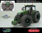 JOH-5177-B-BRGL-S-T-SL-John-Deere-7310-Farmmodels-editie-Brede-banden-+-zwarte-velgen-met-Green-Line-+-nieuwe-spatborden-+-Speciale-Trekhaak-+-Stoflook-Handmatig-verbouwd-Manually-rebuilt-1:32-Wik