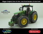 JOH-5154-B-S-SL-John-Deere-7310-Farmmodels-editie-Brede-hoge-banden-+-nieuwe-velgen-+-nieuwe-spatborden-voor-+-dust-look-Wiking-2018-Handmatig-verbouwd-Manually-rebuilt-1:32