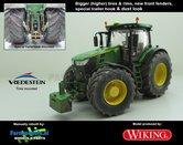 JOH-5156-B-S-T-SL-John-Deere-7310-Farmmodels-editie-Brede-hoge-banden-+-nieuwe-velgen-+-nieuwe-spatborden-voor-+-trekhaak-+-dust-look-Wiking-2018-Handmatig-verbouwd-Manually-rebuilt-1:32