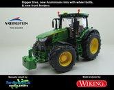 JOH-5084-B-S**-John-Deere-7310-Farmmodels-editie-Brede-banden-+-Aluminium-velgen-+-nieuwe-spatborden-voor-Wiking-2018-Handmatig-verbouwd-Manually-rebuilt-1:32