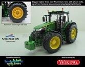 JOH-5095-B-S-WG-John-Deere-7310-Farmmodels-editie-Brede-hoge-banden-+-Aluminium-velgen-+-Wielgewicht-+-nieuwe-spatborden-voor-Wiking-2018-Handmatig-verbouwd-Manually-rebuilt-1:32