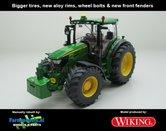 JOH-4253-B-S-John-Deere-6125R-Wiking-+-nieuwe-velgen-+-banden-+-spatborden-voor-Handmatig-verbouwd-Manually-rebuilt-1:32