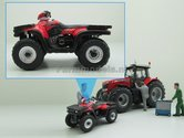 POL-001-Polaris-ATV-Quad-Rood-zwart-1:32