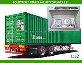 28194--2-ASSER-AXLE-Trailer-+-40ft-Container-Bouwpakket-incl.-dubbellucht-banden-+-velgen-+-eind-doppen-1:32