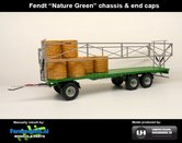 Rebuilt-FENDT-NATURE-GREEN-Joskin-Wago-TR10000T20-met-32-ronde-balen-chassis-&-end-caps-1:32--UH5225-Fendt-Nature-Green