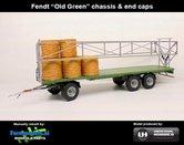 Rebuilt-FENDT-OLD-GREEN-Joskin-Wago-TR10000T20-met-32-ronde-balen-Fendt-Old-Groen-chassis-&-end-caps-1:32--UH5225