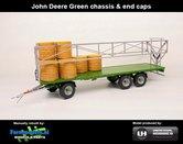 Rebuilt-JOHN-DEERE-GREEN-Joskin-Wago-TR10000T20-met-32-ronde-balen-John-Deere-Groen-chassis-&-end-caps-1:32-UH5225-JD-Green-LAST-ONE