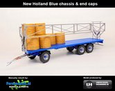 Rebuilt-BLUE-Joskin-Wago-TR10000T20-met-32-ronde-balen-New-Holland-Blauw-chassis-&-end-caps-1:32--UH5225-Blue-LAST-ONE