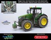 JOH-5087-B-S-T-SL**-John-Deere-7310-Farmmodels-editie-Brede-banden-+-Aluminium-velgen-+-nieuwe-spatborden-voor-+-Speciale-Trekhaak-+-Dust-Look-Wiking-2018-Handmatig-verbouwd-Manually-rebuilt-1:32