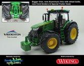 JOH-5085-B-S-T**-John-Deere-7310-Farmmodels-editie-Brede-banden-+-Aluminium-velgen-+-nieuwe-spatborden-voor-Wiking-2018-Handmatig-verbouwd-Manually-rebuilt-1:32
