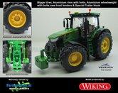 John-Deere-7310-Farmmodels-editie-Brede-banden-+-Aluminium-velgen-+-Wielgewicht-+-nieuwe-spatborden-voor-+-speciale-trekhaak-Wiking-2018-Handmatig-verbouwd-Manually-rebuilt-1:32