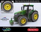 John-Deere-7310-Farmmodels-editie-Brede-banden-+-Aluminium-velgen-+-Wielgewicht-+-nieuwe-spatborden-voor-+-Dust-Look-Wiking-2018-Handmatig-verbouwd-Manually-rebuilt-1:32