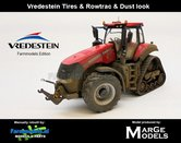 Rebuilt-&-Dirty-ROWTRAC-Case-Magnum-380-CVX-+-VREDESTEIN-STOFLOOK-Case-Half-Track-model-Marge-Models-1:32-MM1805-RD