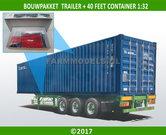 28196-3-ASSER-AXLE-TRAILER-+-40ft-Container-Bouwpakket-incl.-12x-(dubbellucht)-banden-+-velgen-+-eind-doppen-1:32