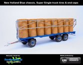 JOS-1430-B-BLUE-Joskin-Wago-TR10000T20-met-32-ronde-balen-New-Holland-Blauw-chassis-+-Super-Single-truck-tires-+-end-caps-1:32-UH-2018-UH5225