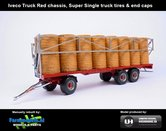 JOS-1415-B-RED-Joskin-Wago-TR10000T20-met-32-ronde-balen-Rood-chassis-+-Super-Single-truck-tires-+-end-caps-1:32-UH-2018-UH5225
