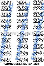NUM-19320-Nummerset-201-t-m-210--(30-stickers)-Zwart-op-transparant