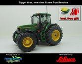 JOH-2573-B-S+FG-John-Deere-7710-Farmmodels-editie-+-Free-gift-GPS-JD-7710-Schuco-+-nieuwe-velgen-+-banden-+-spatborden-Handmatig-verbouwd-Manually-rebuilt-1:32
