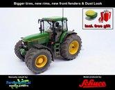 John-Deere-7710-Farmmodels-editie-+-Free-gift-GPS-JD-7710-Schuco-+-nieuwe-velgen-+-banden-+-spatborden-Handmatig-verbouwd-Manually-rebuilt-1:32