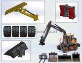 01-Diverse-aanbouw-sets-koppelstukken-met-Farmmodels-hulpstukken-en-brede-lagedrukbanden-t.b.v.-Volvo-EWR150E-1:32-Verwacht-September