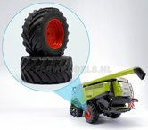 42322-O+B-Claas-Lexion-Wiking-achteras-velgenset-+-brede-Vredestein-banden-Ø-52.4-mm-gespoten-in-Farmmodels-Claas-oranje-Lexion-760-770-780-1:32-EXPECTED