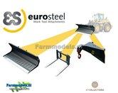 3x-EuroSteel:-Puinriek-Palletvork-&-Hijsjip-set-geschikt-voor-snelwissel-Volvo-L60H--L70H-&-L90H-Shovel-1:32--AT3200121