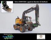Rebuilt-&-Dirty:-Volvo-EWR150E-kraan-LAGEDRUK-BANDEN-+-STOF--&-SLIJTLOOK-+-Tiltrotator-S6-S60-snelwissel-+-bak-1:32--AT3200101-RD
