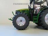 46612+B-John-Deere-6125R-Aluminium-vooras-velgen-+-brede-banden-John-Deere-6125R-Wiking-1:32