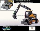 Rebuilt:-Volvo-EWR150E-kraan-LAGEDRUK-BANDEN-+-Tiltrotator-S6-S60-snelwissel-+-bak--1:32-AT3200101-R