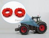 2x-Wielgewicht-Fendt-Rood-Ø-30.8-mm-(kleur-zoals-complete-Fendt-1050-set)-1:32