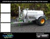 JOS-6350-Joskin-Modulo-2-op-Michelin-Mega-Bibx-1050-banden-met-aluminium-velgen-in-Joskin-Geel-Farmmodels-editie-1:32--UH2869