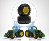 JD-Alu.-vooras-velgen-John-Deere-6210R-en-6250R-Geel-+-Vredestein-Traxion-710-60-R30-banden-Ø-51.8-mm-1:32