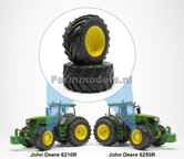 JD-Alu.-vooras-velgen-John-Deere-6210R-en-6250R-Geel-+-Vredestein-Traxion-710-60-R34-banden-Ø-52.3-mm-1:32