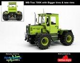 Rebuilt-MB-trac-700K-(W440)-op-Brede-lagedruk-banden-en-nieuwe-velgen--(1982-1991)-1:32--MW1058