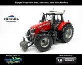 Rebuilt-Massey-Ferguson-7726:-Brede-banden-+-nieuwe-velgen-+-nieuwe-spatborden-voor-1:32-UH4850-R