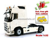 CREMEWHITE-2-Axle-Volvo-FH16-Wit-Creme--MarGe-Models-incl.-gratis-set-Wielkeggen-1:32-MM1810-01