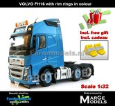 BLUE-3-Axle-Volvo-FH16-+-VELGPLAAT-BLAUW-MarGe-Models-1:32-MM1811-04-Nu-incl.-gratis-set-Wielkeggen