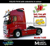 Rebuilt-RED-2-Axle-Volvo-FH16-ROOD-MarGe-Models-incl.-gratis-set-Wielkeggen-1:32--MM1810-01-R
