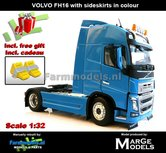BLUE-2-Axle-Volvo-FH16-BLAUW--MarGe-Models-1:32-MM1810-01-BLUE-Handmatig-verbouwd-Nu-incl.-gratis-set-Wielkeggen